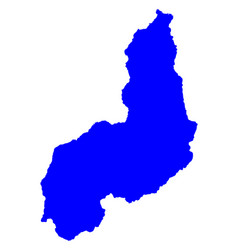 Map of piaui vector