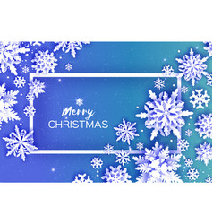 Merry christmas and happy new year greetings card vector