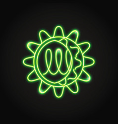neon norovirus cell icon in line style vector image