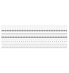 notebook spiral wire binds metal springs vector image