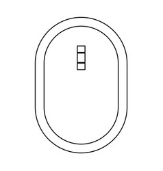 Optical mouse the black color icon vector