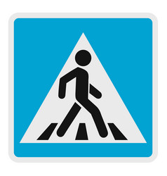 Pedestrian icon flat style vector