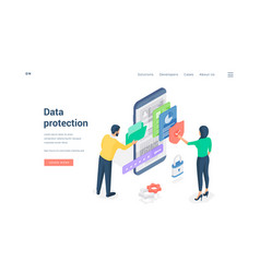 People using protected data man browsing folder vector