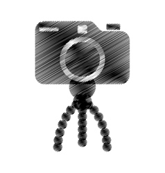 photo camera pictures tripod icon vector image