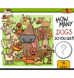 Preschool counting task with dogs vector