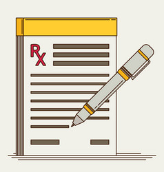 prescription pad medical prescription vector image