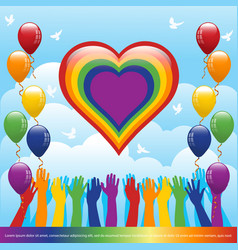 pride month banner vector image