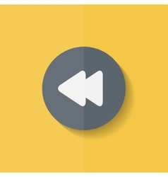 Reverse or rewind icon Media player Flat design vector image