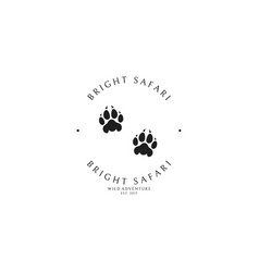 Safari park logo template vector