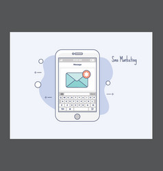 Sms marketing icon vector