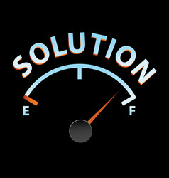 solution meter vector image