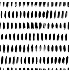 straight brush lines seamless pattern vector image
