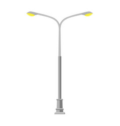 street light lamp vector image