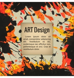 Template for cards text designs posters vector