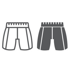 trousers line and glyph icon clothing and fashion vector image
