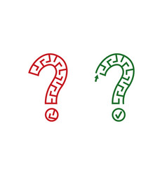 two question maze vector image