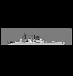 Type 42 batch iii guided missile destroyer vector