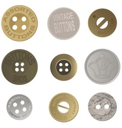Vintage buttons vector