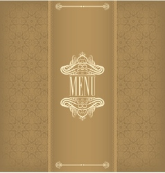 Vintage design menu vector