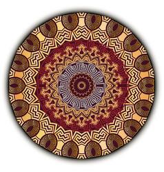 vintage mandala pattern ornamental greek floral vector image