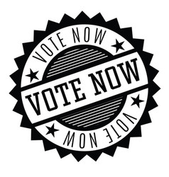 Vote now stamp on white vector