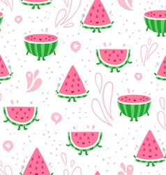 Watermelon fun seamless pattern vector