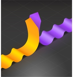 Wavy arrows vector image