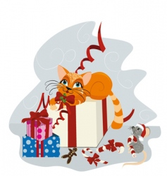 xmas cartoon vector image