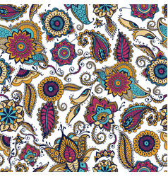 elegant paisley seamless pattern with colorful vector image