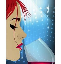 Wine Woman vector image vector image