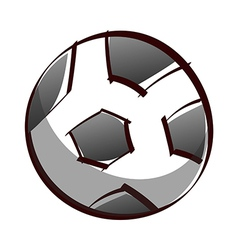 A soccer vector image vector image