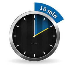 Clock 10 Minutes To Go vector image vector image