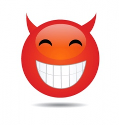 evil smiley face vector image vector image