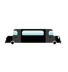 limousine black isolated transport on white vector image vector image