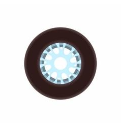 Racing wheel icon cartoon style vector image vector image