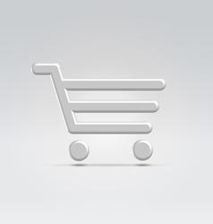 Silver shopping icon vector image vector image