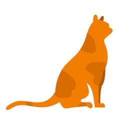 sitting cat icon isolated vector image vector image