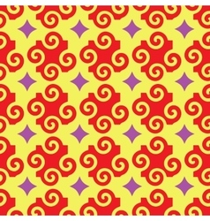 Spiral and star abstract seamless pattern vector image vector image