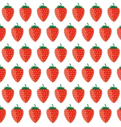strawberry in colorful vector image