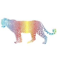 abstract rainbow leopard vector image