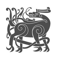 ancient celtic mythological symbol of deer vector image vector image