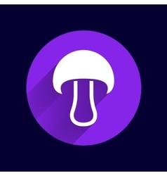 Mushroom sign icon Boletus mushroom symbol vector image vector image