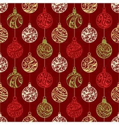Seamless pattern of Christmas balls vector image vector image