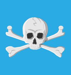 death skull and crossbones vector image