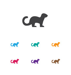of zoology symbol on ferret vector image vector image