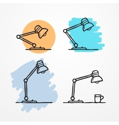 Sketchy table lamp vector image