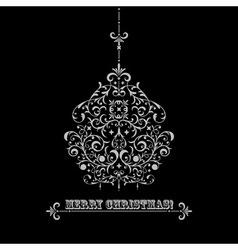 vintage Christmas greeting card vector image vector image