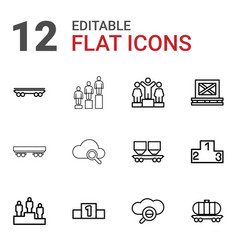 12 platform icons vector image