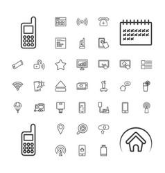 37 mobile icons vector