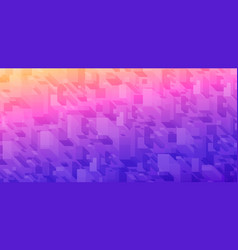 3d isometric box abstract background sunrise vector image